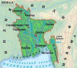 Бангладеш: удачное расположение