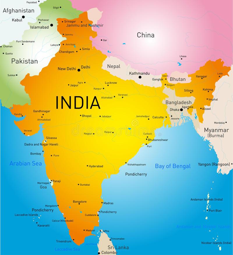 Индия: расположение